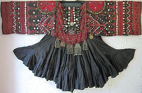 A hand-embroidered wedding dress from Indus Kohistan