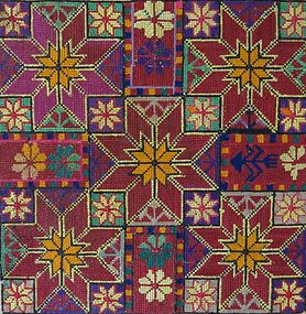A vintage hand-embroidered textile from Afghanistan