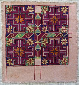 A textile from central Afghanistan in cross stitch