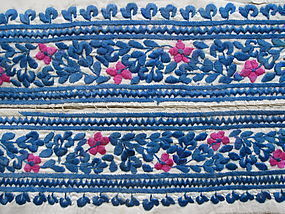 A pair of embroidered dress bands from Afghanistan