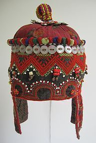 A child's embroidered hat from Indus Kohistan