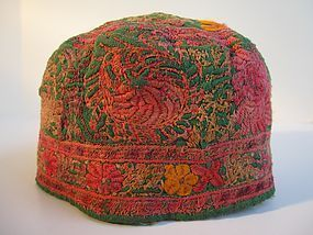A Hazara lady's hat from Bamiyan province