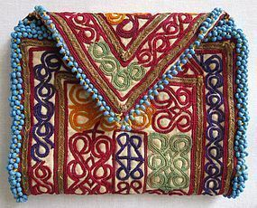 A trifold embroidered wallet from Hazarajat