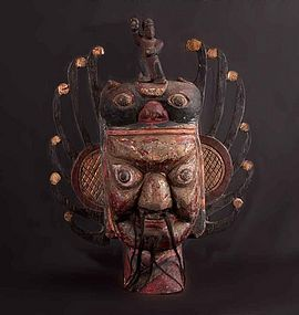 Old chinese ritual Nuo Mask, N�42, China