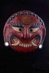 Beautiful Lakhe mask, Nepal,