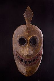 Old primitive mask, North West Nepal, Himalaya