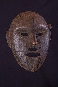 Unusual double mouth primitive mask , Nepal Himalaya