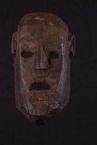 Very old primitive mask, Nepal, Himalaya