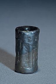 a sumerian haematite seal  circa 2300 1600 bc
