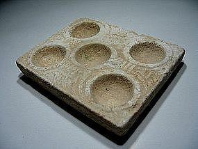 Phoenician Limestone Cosmetic Palette, 800-700 BC.