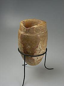 Mesopotamian Alabaster Vase, 2000 BC.
