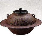 Japanese Zen Tea Ceremony Cast Iron Kikuchi Chagama