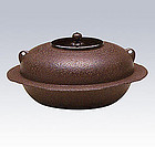 Japanese Zen Tea Ceremony Cast Iron Hiratagumo Chagama