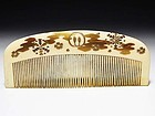 Meiji Period Japanese Geisha Hair Comb Accessory #71