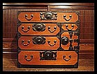MEIJI Antique Japanese Funa Dansu Ship Sea Chest