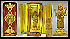 Japanese Buddha KONGOYASHA MYO Gilt-Wood Zushi Shrine