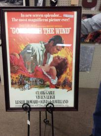 "This "" Gone with the Wind poster was created in first in 1939 for the opening of the picture. It was later revised for use in 1967 movie produced by Selznick and MGM studios."