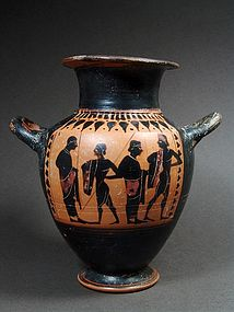 Attic Hydria with Farewell Scene, ca. 530 BC
