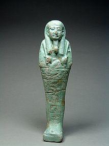 Egyptian shabti of Pa-Khaas, 30th dynasty, 380-343 BC