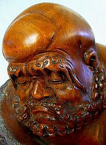 Japanese Rootwood Carving of Daruma