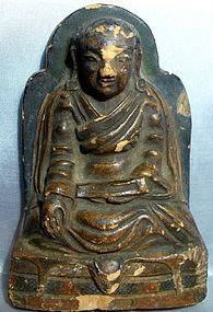 Tibetan Buddhist Clay Plaque