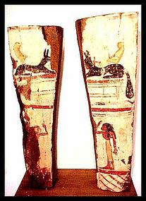 Two Large Sarcophagus Panels W/Display! 350BC