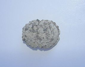 Ancient Egyptian Limestone Button Scarab