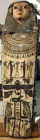 Beautiful Large Egyptian Coffin Lid!