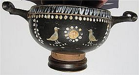 Splendid Gnathian Greek Kylix - 4th Century B.C.