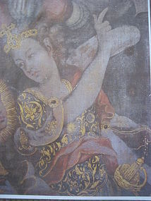 Angel Michael on Flemish Altar Painting