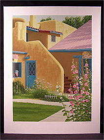 Lovely Origina Serigraph by Lorna Patrick, Taos Shop
