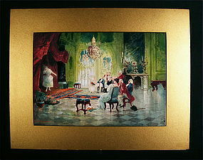 Rare Watercolor painting, Seth Corbett Jones, American