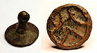 Bactrian bronze stamp seal, 3rd.-early 2nd. mill BC