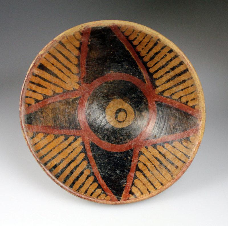 Large Pre-columbian Narino pottery pedestal bowl #4