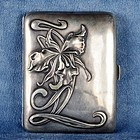 Portuguese Silver Art Deco Cigarette Case Marked Javali II