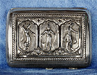 Antique Indian Goddesses Silver Cigarette Case Circa 1900