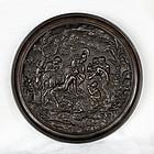 Antique Bronze Cast Plate-Judgment of Paris-Greek Mythology-18th C.