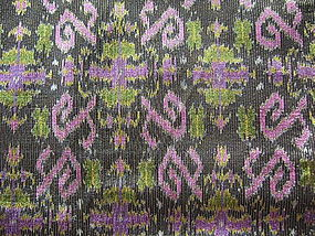 Rare double length 100% Silk Ikat with brocade thread