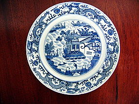 QING Dynasty Chinese Blue&White Porcelain Plate