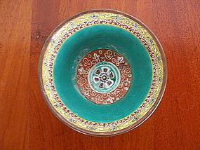 Benjarong Thai Porcelain Bowl, late 18th Century