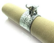 Pewter Napkin Ring with Elephant