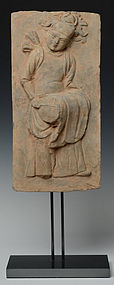 Very Rare SONG DYNASTY Terracotta Panel with Drummer