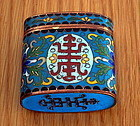 Chinese Oblong QING Dynasty Cloisonne OPIUM Box
