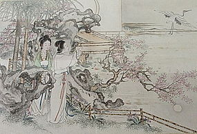 Delicate 19th Century Chinese Painting