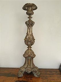 Giant Silver Plated BAROQUE CANDELABRUM 18th Cent.