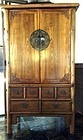 Chinese Camphor Wood Cabinet with Fine Carving/Drawers