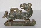 Chinese Archaic Nephrite Jade Beast Carving