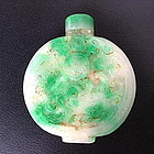 Magnificent APPLE GREEN JADE JADEITE Snuff Bottle