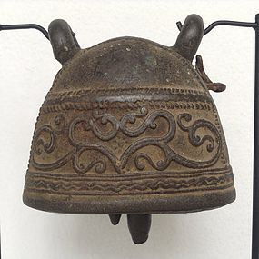 ANTIQUE  BRONZE ELEPHANT BELL, 19th CENTURY