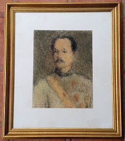 Pastel Original Painting King RAMA V by Yuth Suripong